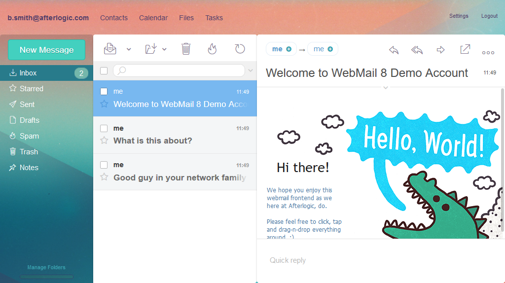 Afterlogic Webmail Pro 8: Message List