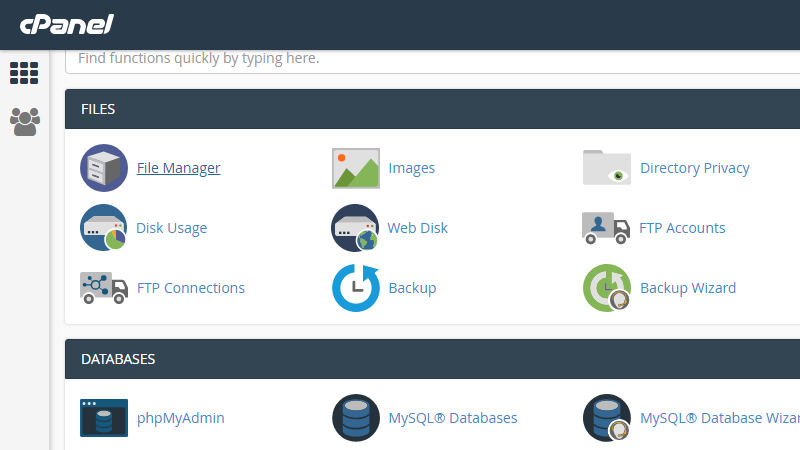 cPanel File Manager 1