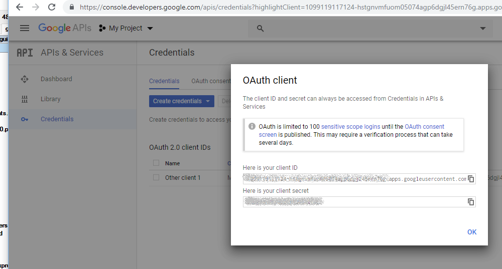 OAuth 2 0 for Google Regular Accounts (installed applications)