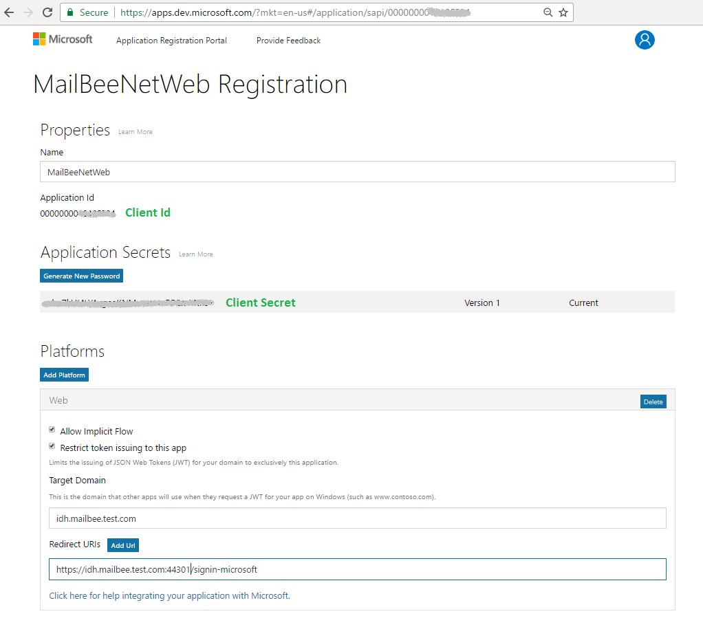 OAuth 2 0 with IMAP/SMTP for Microsoft Outlook com and